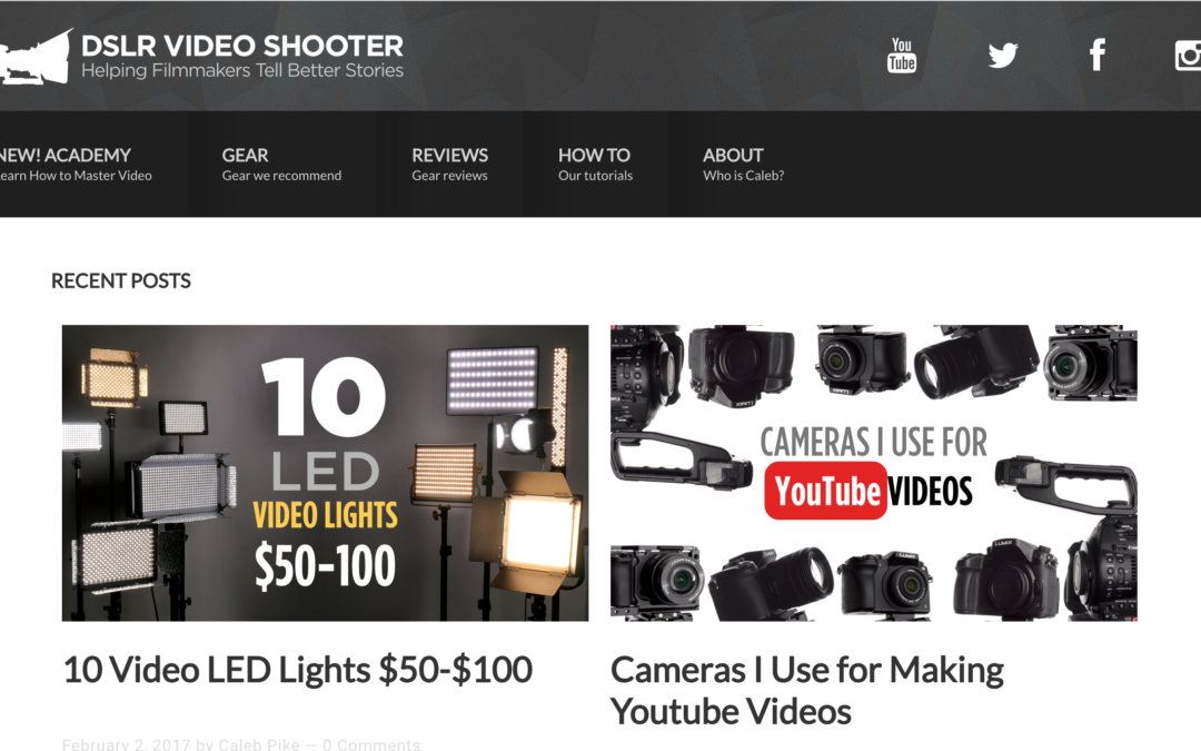 A great resource – DSLR Video Shooter